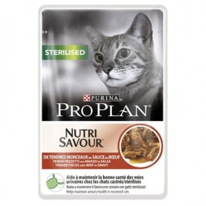 Purina Pro Plan Cat Sterilised Wołowina w Sosie 85g
