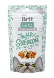 Brit Care Cat Snack Truffles z łososiem 50g